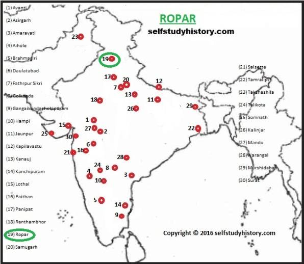 INDIAN HISTORY THROUGH MAP- PART-R